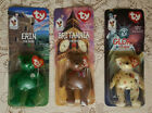 Rare 1999 Error Tags TY Erin ~ Maple ~ Britannia Bears Beanie Baby LOT OF 3 new