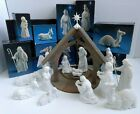 Avon White Bisque Nativity Collectibles Set in Original Boxes 1981 1988