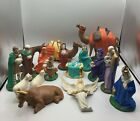 Vintage Large NATIVITY SCENE SET Holland Mold Ceramic 17 Pcs Christmas 70s