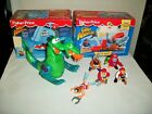 Fisher Price Great Adventures Pirates Sea Serpent Whale Shark Raft Figures Lot