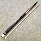 Red Palmer USA Pool Cue w Jabocy UltraPro Shaft Leather Wrap 19oz Radial Pin
