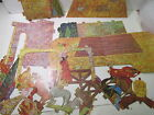 Vintage Die Cut Cardboard 3 D Nativity Scene Christmas Decoration ch968