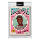 Topps PROJECT 2020 Card 7 1954 Bob Gibson by Grotesk - Artist Proof # to 20