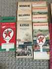 Vintage Lot of 8 Texaco Road Hwy State & City Street Oil Gas Station Maps 1960s