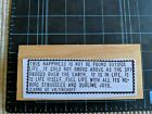 RARE EUC Teesha Moore Zettiology Wood Mounted Rubber Stamp Quote By Vietinghoff