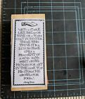 RARE Teesha Moore Zettiology Wood Mounted Rubber Stamp Quote By Stone Read Desc