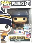 Funko POP! 43 NFL Green Bay Packers AARON RODGERS TOYS R US EXCLUSIVE RARE NEW!!