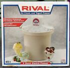 Rival USA 4 Quart Electric Ice Cream and Yogurt Freezer Maker 8401 White Used