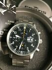 Fortis Pilot Flieger Uhr Automatic Chronograph Edelstahl Metallband 597.10.141