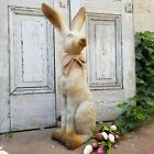 Rustic Resin Tall Garden Bunny Rabbit Figurine Statue 24