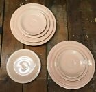 9 pc lot 1980s Vintage FIESTA APRICOT PINK PLATES Fiestaware Homer Laughlin USED