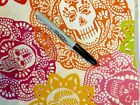 Alexander Henry Papel Picado Fabric Mexican Day of the Dead EXTREMELY RARE FABRI