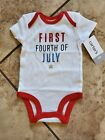 NWT Carters NB First Fourth Of July One Piece