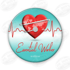 Health Care Essential Workers of America 125 Pin back Button UBEW 6 Button