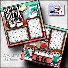 STRAIGHT OUT OF QUARANTINE 2 premade scrapbook pages layout paper CHERRY 0139