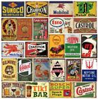 Pack of 24 Pcs Retro Gas Oil Vintage Tin Signs Home Wall Decor Garage Man Cave
