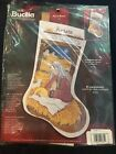 Bucilla He Is Born 18 Inch Xmas Nativity Counted Cross Stitch Stocking Kit