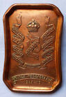 FINE WW1 BRITISH ARMY 13TH HUSSARS PIN DISH - BATTLE HONOURS