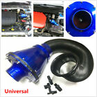 Universal Power Intake Bellows Filter Car High Flow Cold Air Inlet Cleaner Kit