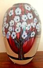 Orient  Flume Trees Flowers Sillars  Art Glass Paperweight Vase