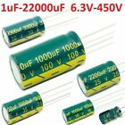 High Frequency Low Esr Radial Electrolytic Capacitor Various Valuevoltages 105c