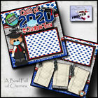 GRADUATION BOY QUARANTINE 2 premade scrapbook pages LAYOUT printed CHERRY 0143