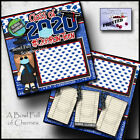 GRADUATION GIRL QUARANTINE 2 premade scrapbook pages LAYOUT printed CHERRY 0142