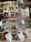 24 LEAD CRYSTAL 13 DECANTER FROM POLAND  2 CANDLE HOLDERS