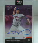 2019 Topps Now Futures Cy Young Winner DeGrom Chrome Autograph Number 1 of 25!