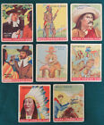 8 Goudey Indian Chewing Gum Cards Billy the Kid Buffalo Bill +Native Americans