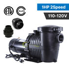 2 Speed 1HP High Flo IN Above GROUND Swimming POOL PUMP Energy Saving 115V