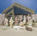 11 Piece Nativity Set with Wooden Stable as