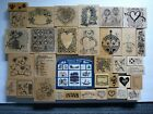 PSX Rubber Stamp Lot of 36 Wood Mounted Personal Stamp Exchange