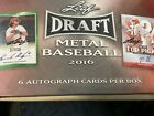 2016 Leaf METAL Baseball Sealed HOBBY BOX (6 Autos!) READY TO SHIP