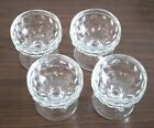 Indiana Glass Whitehall Cubist Clear Sherbet Dessert Footed Dishes Lot of 4