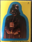 Star Wars 1980 Topps Sticker Card #33 Darth Vader Yellow Blue Border puzzle back