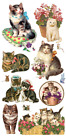 VIOLETTE STICKER PANEL LOVELY VICTORIAN CATS