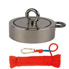 Double Sided Fishing Magnet Kit Upto 3800 Lbs Force Rope Carabiner Threadlocker