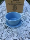 "FIESTA NEW PERIWINKLE blue Retired FLOWER POT & SAUCER 6-3/16"" x 3-11/16"