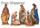 Josephs Studio by Roman 5 Piece Slim Profile Nativity Set Includes Holy F