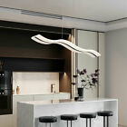 Modern Acrylic LED Chandelier Wave Spiral Ceiling Pendant Light Dimmable Remote