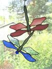 Handmade Stained Glass DRAGONFLY SuncatcherDF089