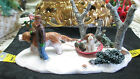 RETIRED LEMAX Village Collection MUSH Table Decor St Bernard Pulls Sled Puppy