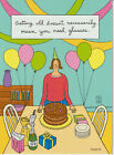 FUNNY Birthday Card IM FINE DRINKING FROM THE BOTTLE NEW Made in USA