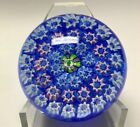 JOHN DEACONS Concentric Millefiori Paperweight 2 508 cm Blue Ground