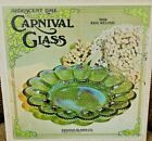 Vintage Iridescent Lime Carnival Egg Plate Indiana Glass Mint In Box Mid Century