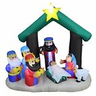 6 Foot Tall Christmas Inflatable Nativity Scene Indoor Outdoor Yard Decoration