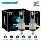 H4 Motorcycle LED Headlight Bulbs Kit High Low 100W 10000LM Super Bright 6000K