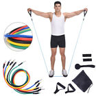 11 Piece Set Resistance Bands Heavy Workout Exercise Yoga Crossfit Fitness Tubes