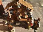 VINTAGE HAND PAINTED NATIVITY 11 PC SET MADE IN JAPAN